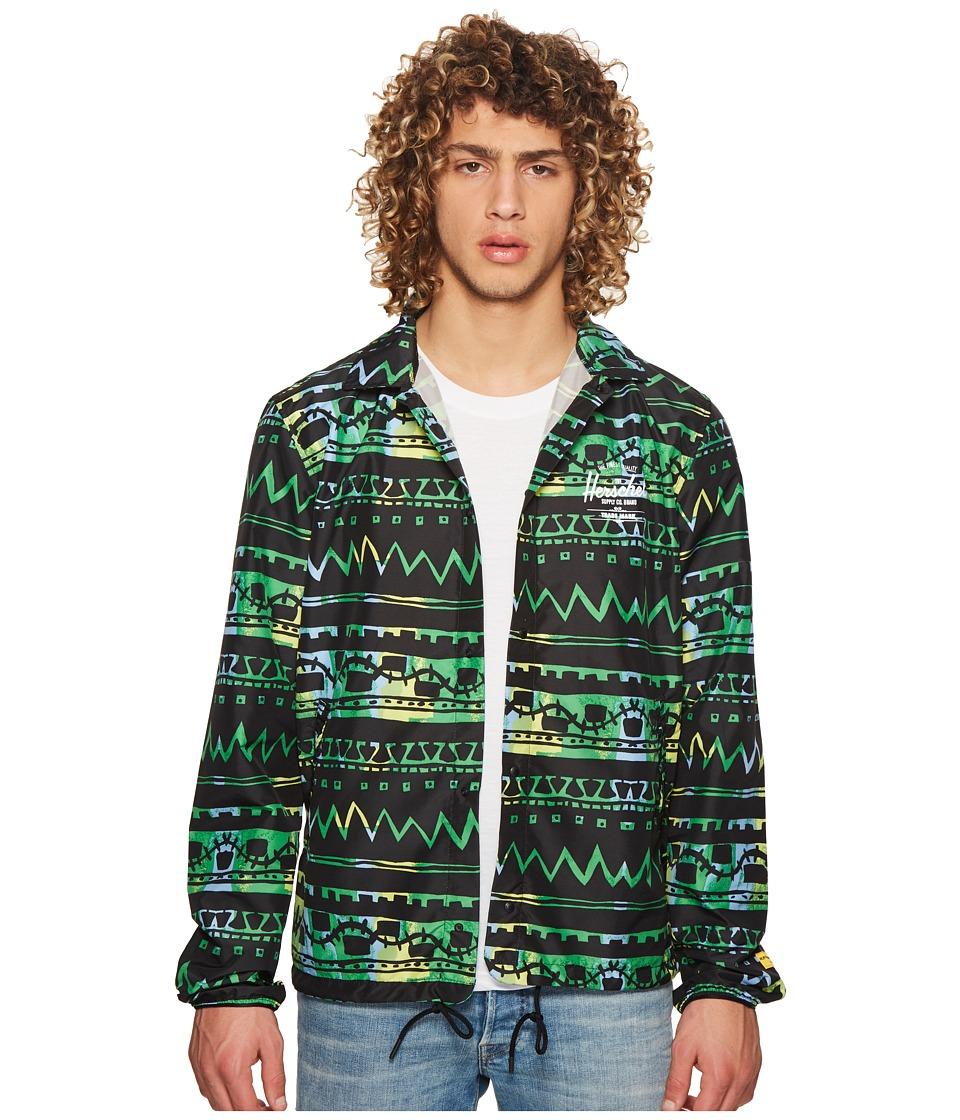 Herschel Supply Co. - Coach (Zigzag Black/Green) Mens Coat