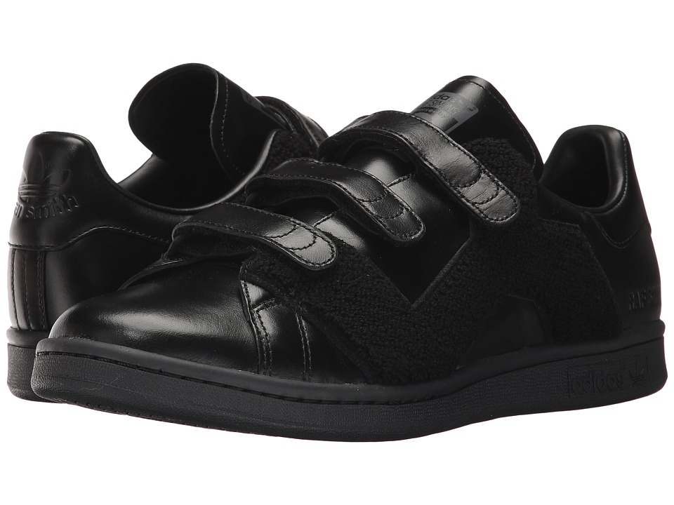adidas by Raf Simons - RS Stan Smith Comfort Badge (Core Black/Core Black/Core Black) Shoes