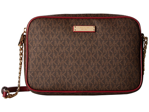 MICHAEL Michael Kors Crossbodies Large East/West Crossbody - Brown/Mulberry