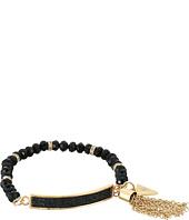 GUESS - Dainty Bead Stretch Bracelet w/ Tassel