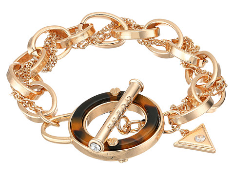 GUESS Tortoise Toggle Bracelet - Gold/Tortoise