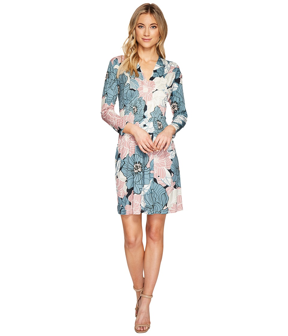 CATHERINE Catherine Malandrino 3/4 Sleeve Inverted Pleat Dress (Sketchy Floral) Women