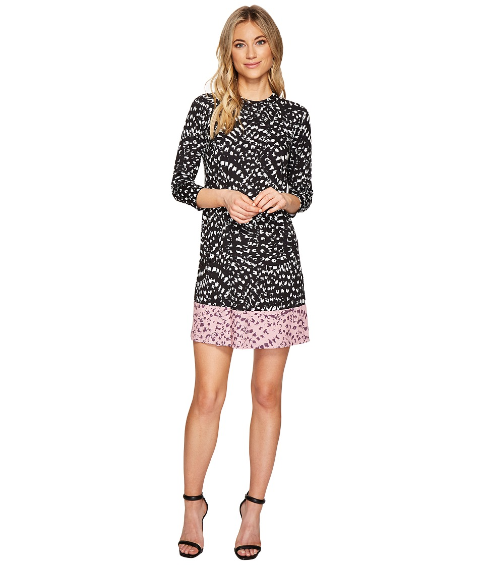 CATHERINE Catherine Malandrino 3/4 Sleeve A-Line Swing Dress (Texture Animal Combo) Women