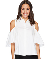 CATHERINE Catherine Malandrino - Cold Shoulder Collared Shirt