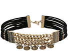 GUESS - Wide Chain Front Choker w/ Coin Drops