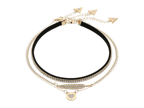 GUESS Trio Choker Set - Gold/Jet/Crystal