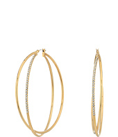 GUESS - Double Wire Crisscross Hoop Earrings