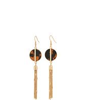 GUESS - Disc w/ Chain Linear Earrings