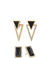 GUESS - Duo Ear Button and Front to Back Earrings