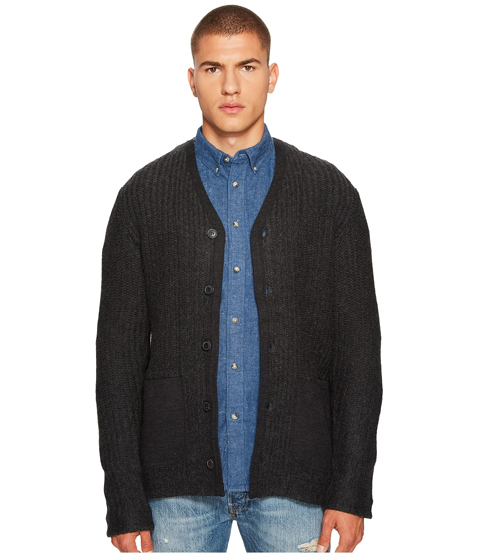 Levis(r) Premium - Made Crafted Cashmere Blend Novelty Sweater (Black) Mens Sweater