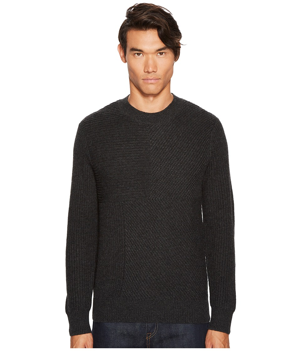 Levis(r) Premium - Made Crafted Cashmere Blend Pieced Sweater (Black) Mens Sweater