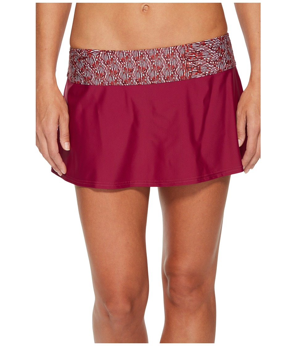 Prana Sakti Swim Skirt (Pomegranate Seashells) Women