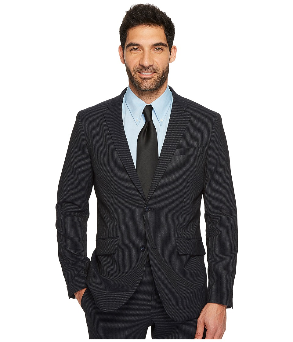 Perry Ellis Slim Fit Subtle Pinstripe Suit Jacket (Navy) ...