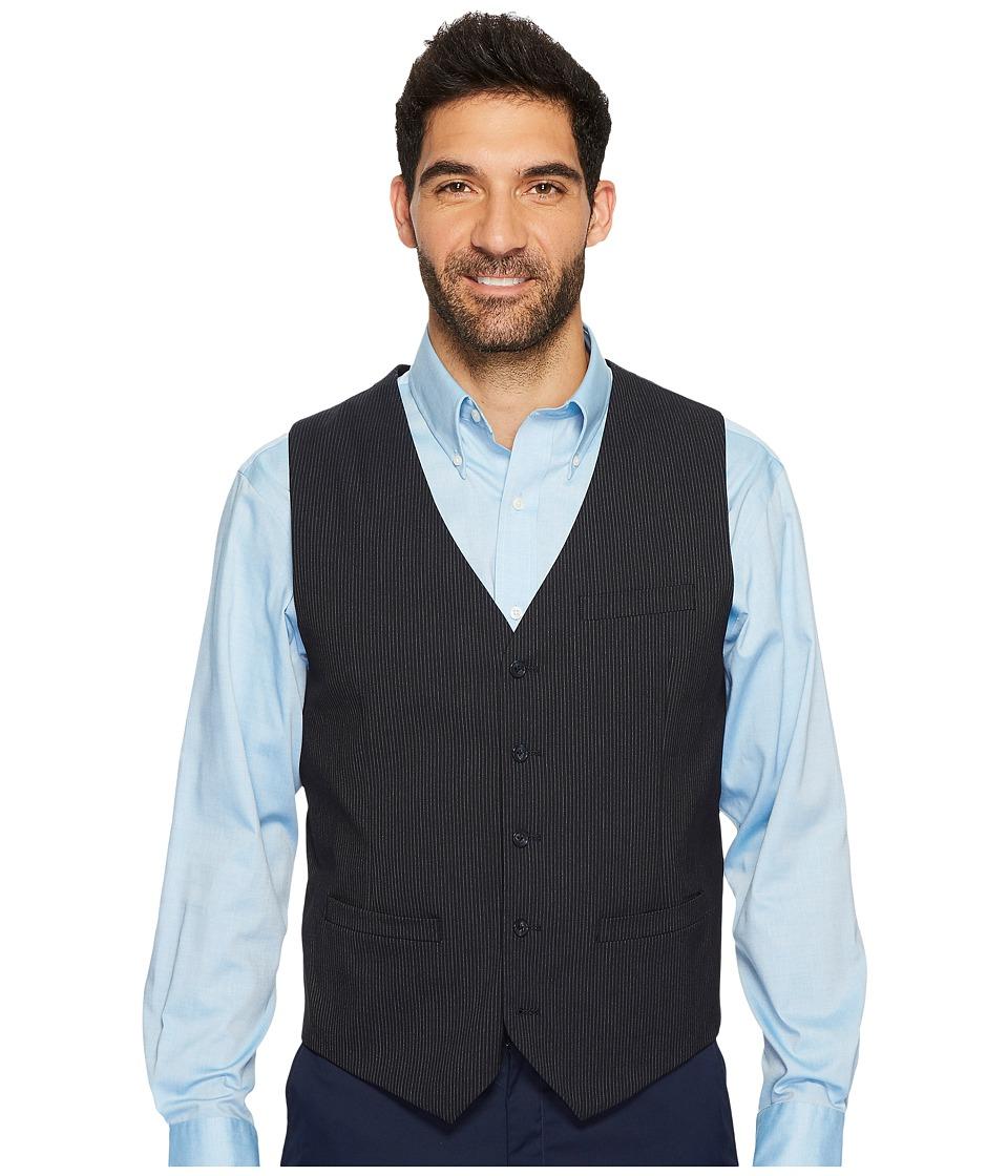 Perry Ellis Slim Fit Subtle Pinstripe Suit Vest (Navy) Me...