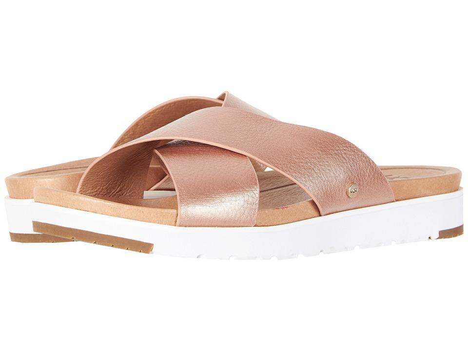 UGG - Kari Metallic (Rose Gold) Women's Sandals
