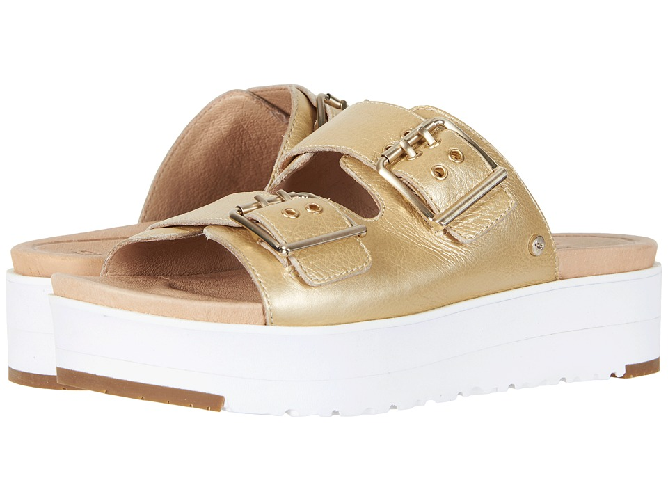 UGG - Cammie Metallic (Gold) Women's Sandals