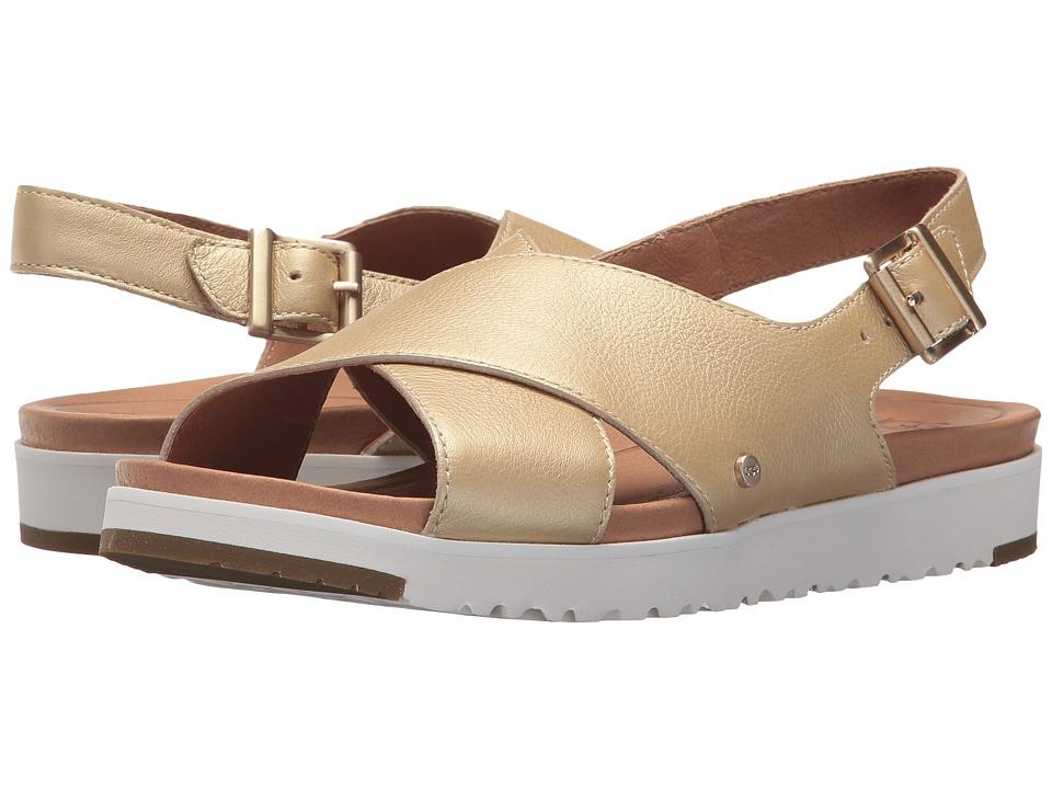 UGG - Kamile Metallic (Gold) Women's Sandals
