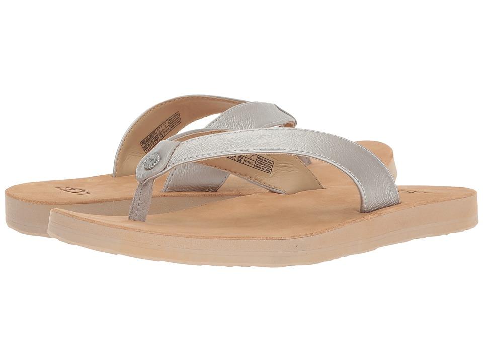 UGG - Tawney Metallic (Silver) Women's Sandals
