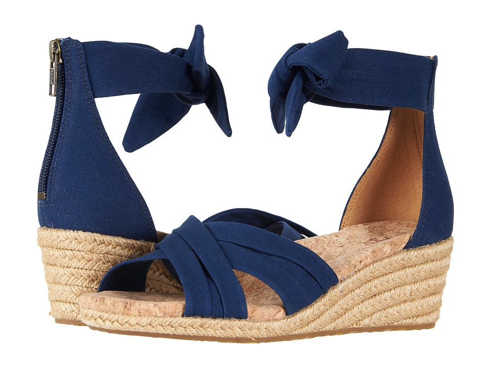 60s Shoes, Boots | 70s Shoes, Platforms, Boots UGG - Traci Navy Womens Sandals $109.95 AT vintagedancer.com