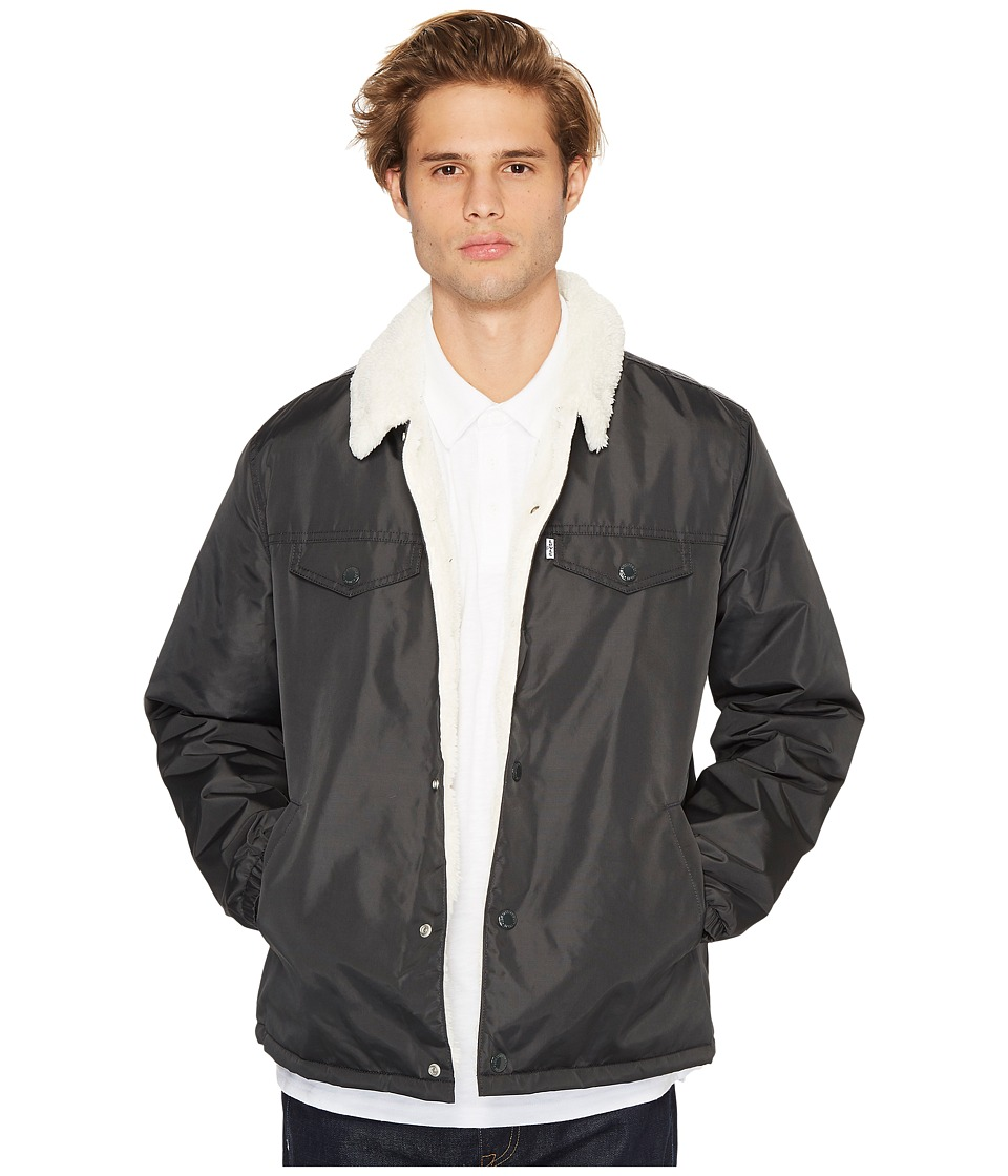Levis(r) Mens - Sherpa Coach Trucker Jacket (Slick Graphite) Mens Coat