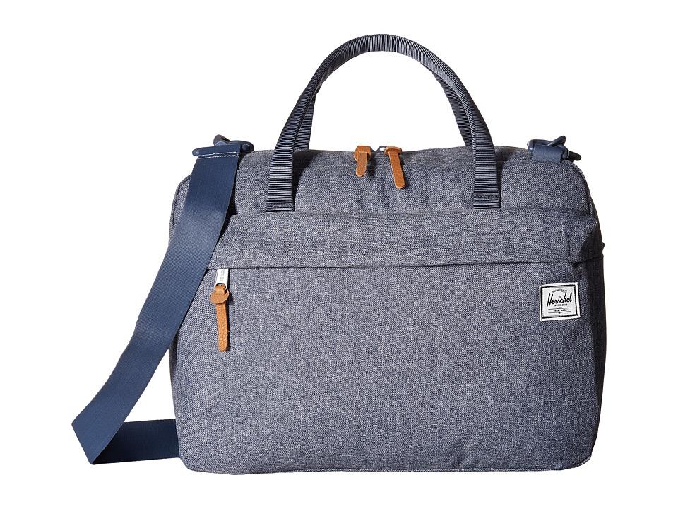 Herschel Supply Co. - Gibson (Dark Chambray Crosshatch) Shoulder Handbags