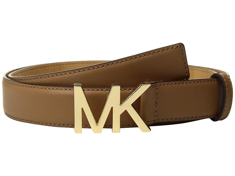 MICHAEL Michael Kors Smooth Feather Edge Panel on Slim MK Plaque (Acorn) Women
