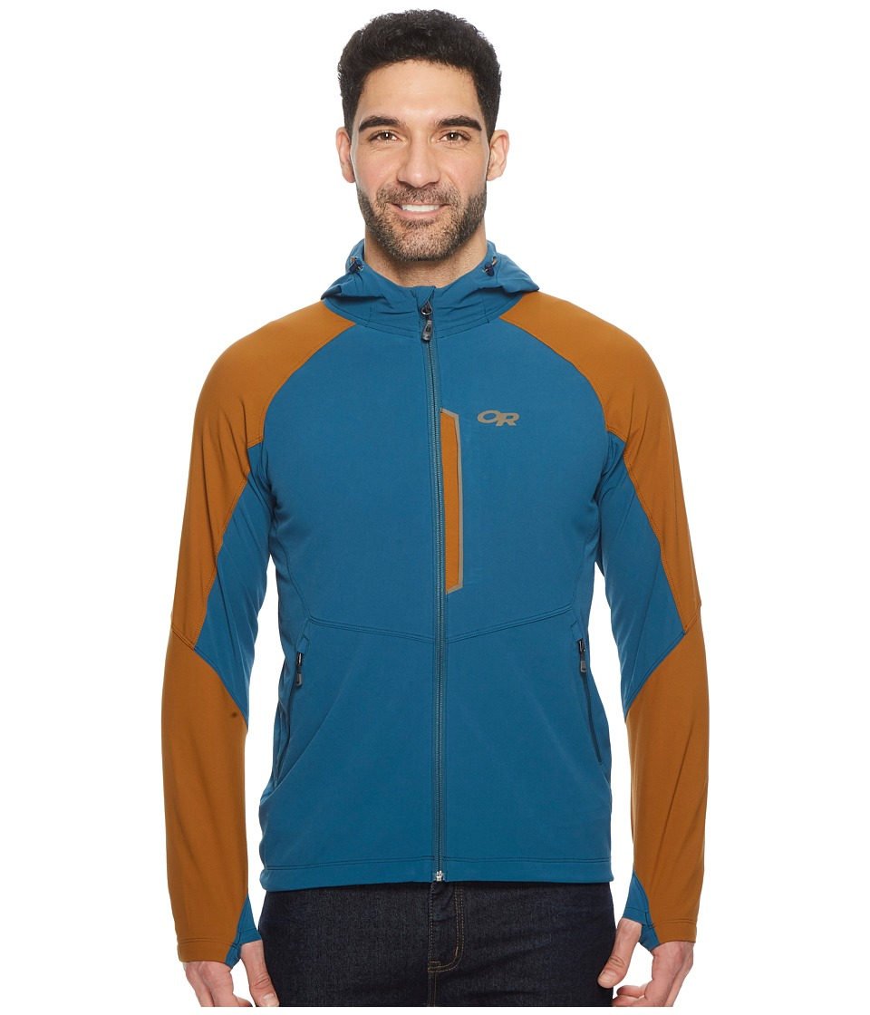 Outdoor Research Ferrosi Hooded Jacket (Peacock/Saddle) Men