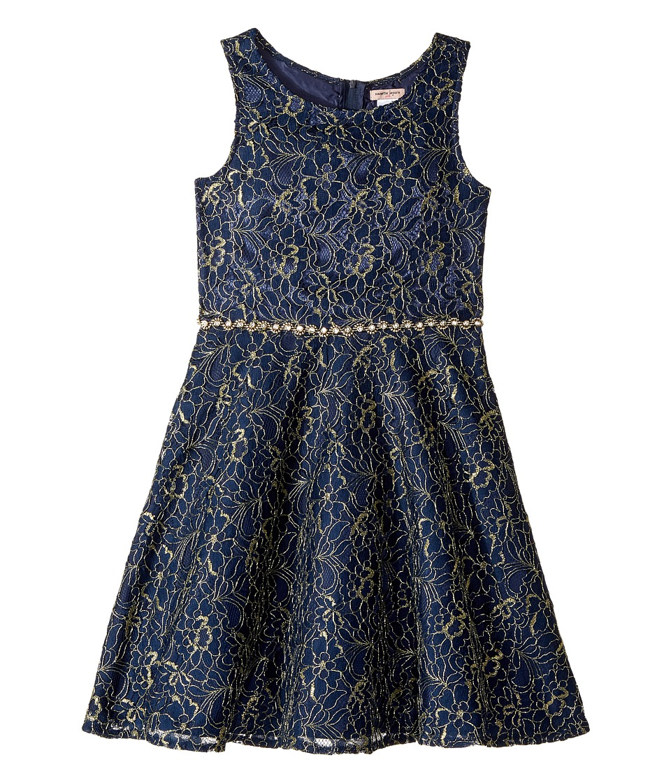 Nanette Lepore Kids - Lurex Lace with Jewel Embellishment