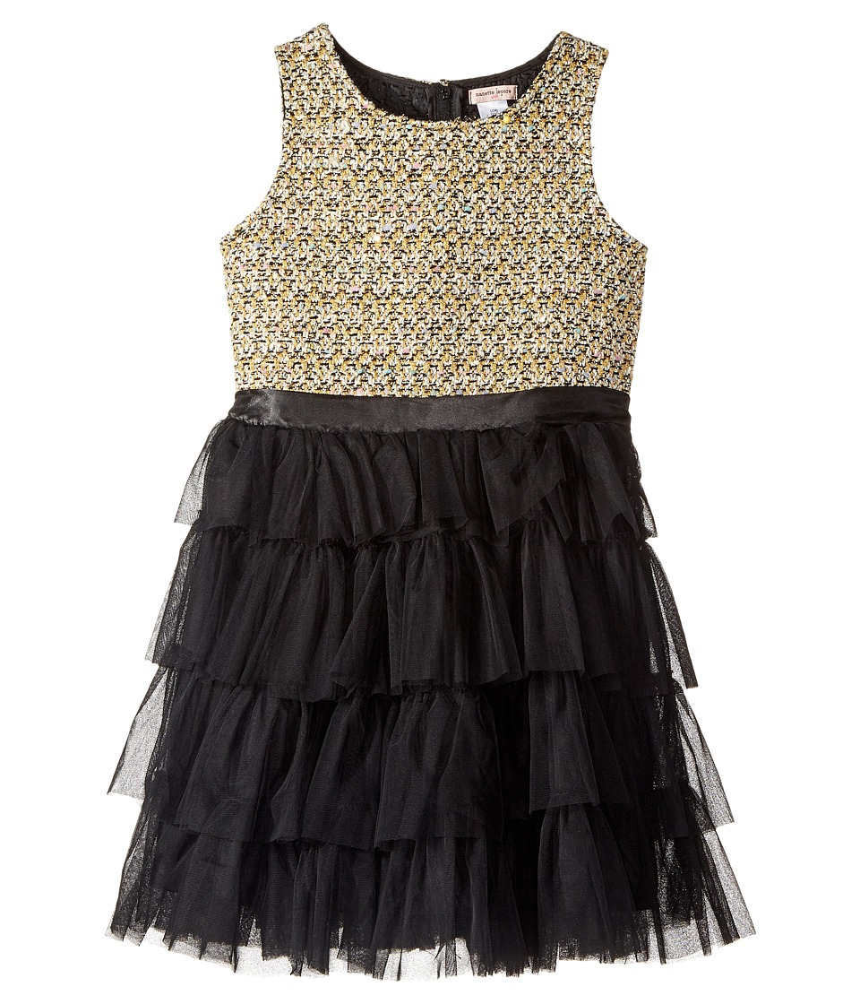 Nanette Lepore Kids - Lurex Tweed Bodice with Layered Tulle Bottom