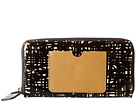 Orla Kiely Texture Stem Leather Big Zip Wallet