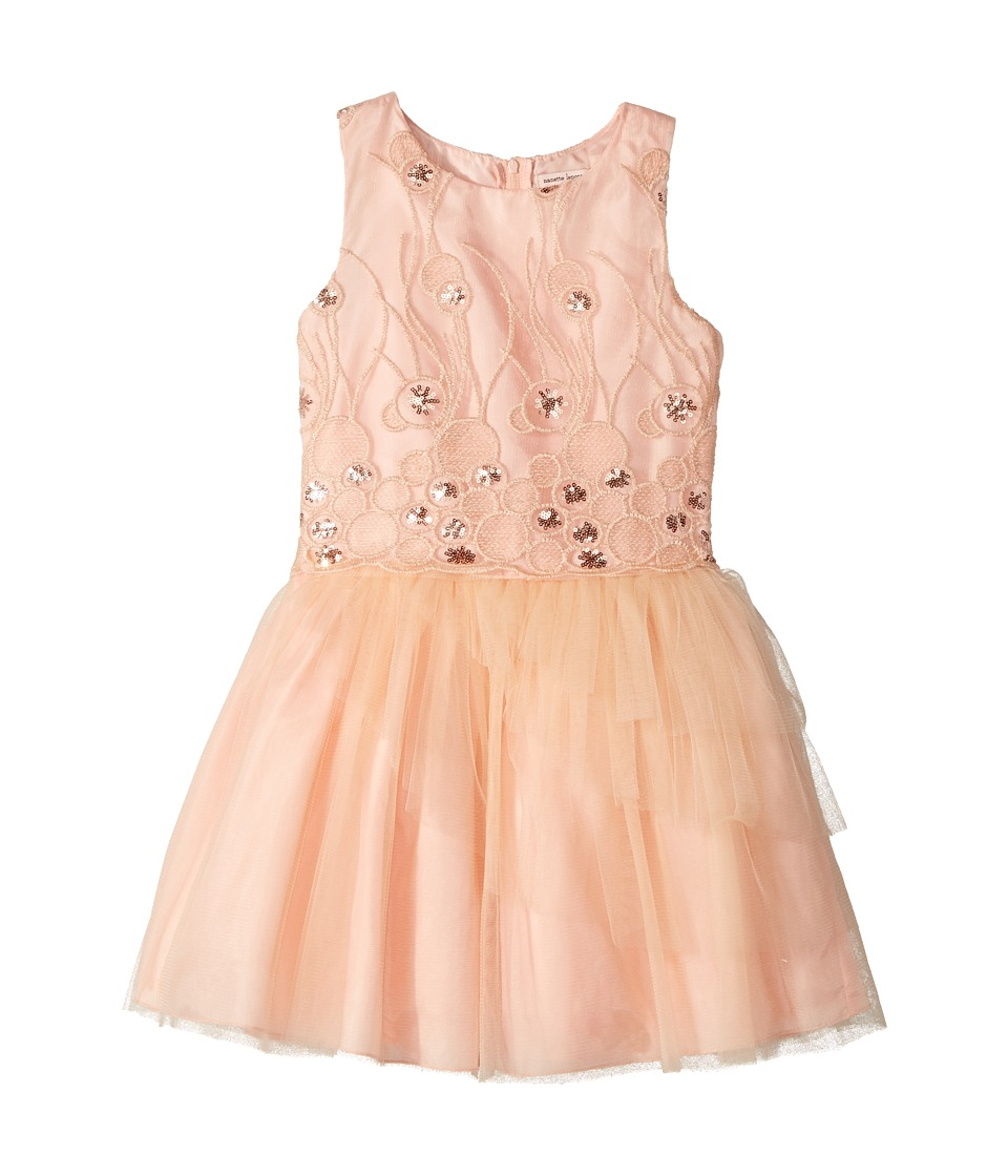 Nanette Lepore Kids - Sequins Embroidered Mesh Dress with Layered Tulle