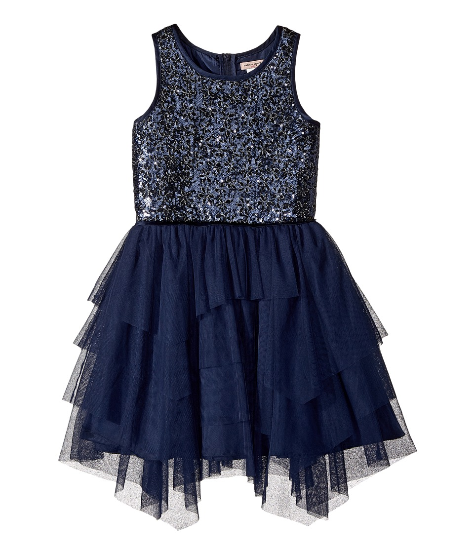 Nanette Lepore Kids - Novelty Sequins with Tulle Dress