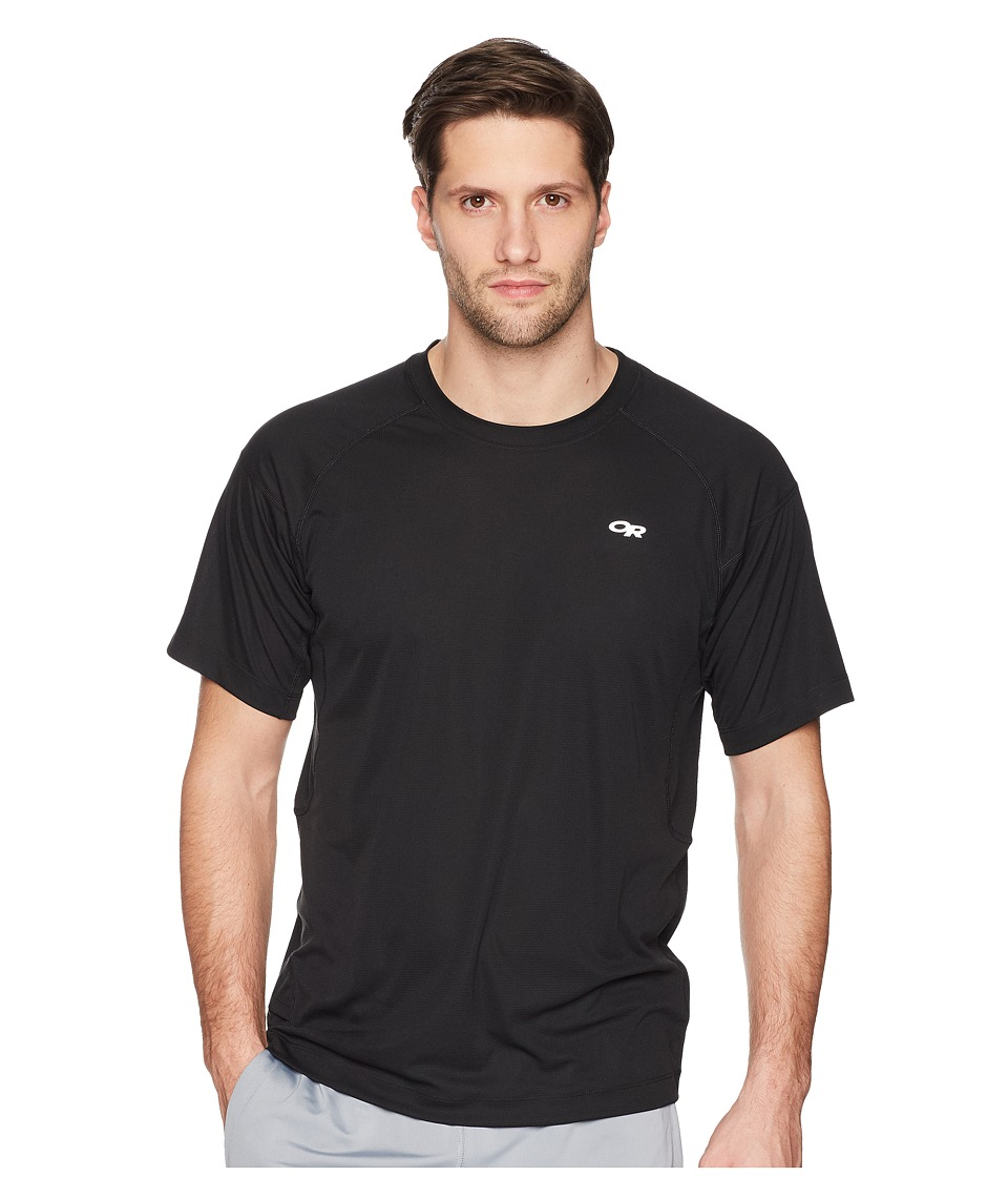 Outdoor Research - Echo Tee (Black/Charcoal) Mens Short Sleeve Pullover