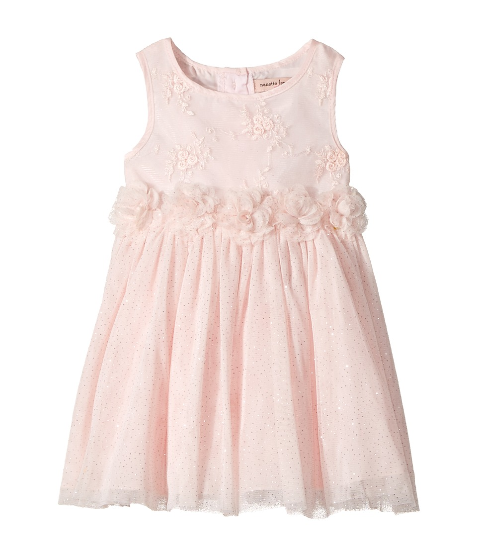 Nanette Lepore Kids - Lurex Ribbon Mesh Dress with Flowers