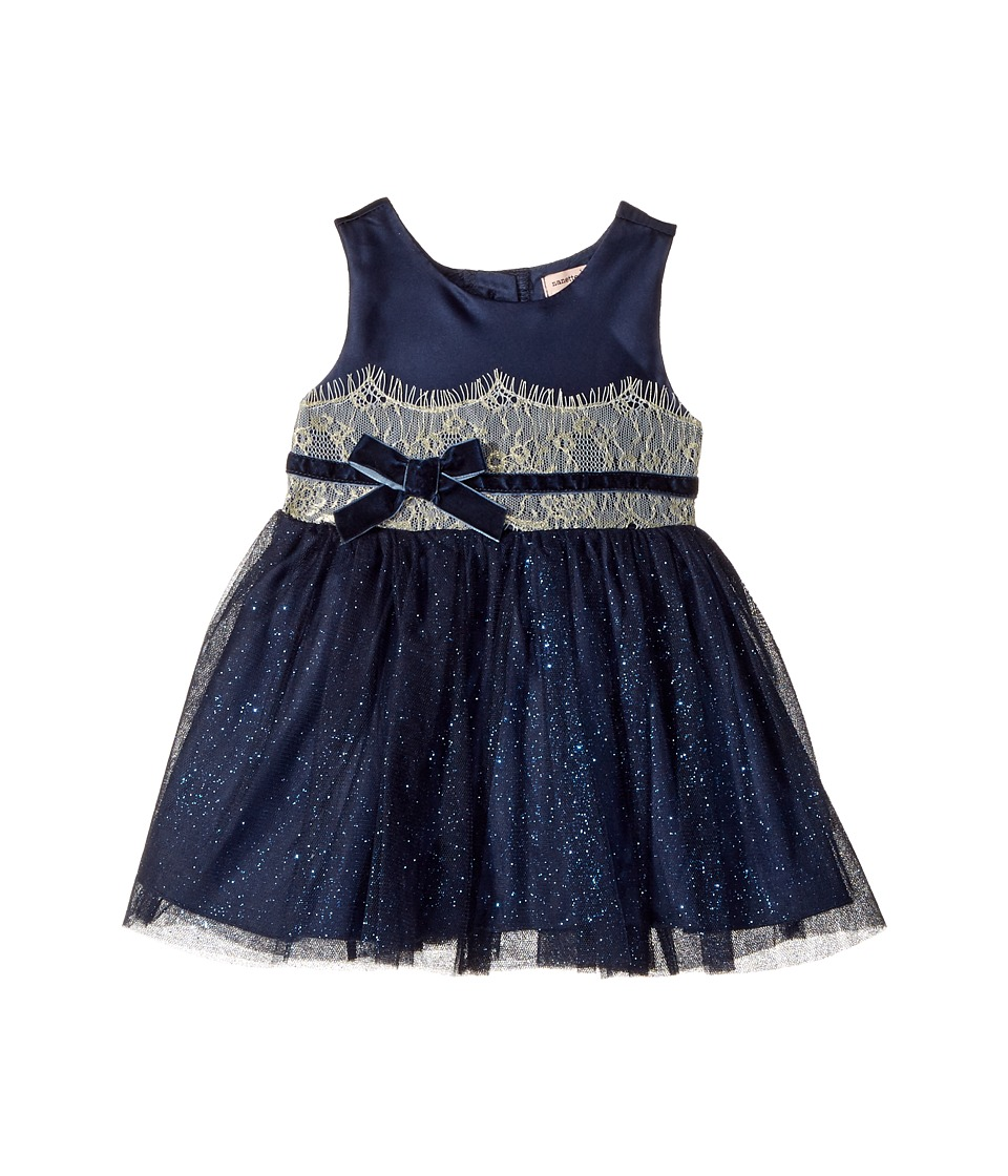 Nanette Lepore Kids - Shimmer Tulle Dress with Matte Satin and Metallic Lace Trim