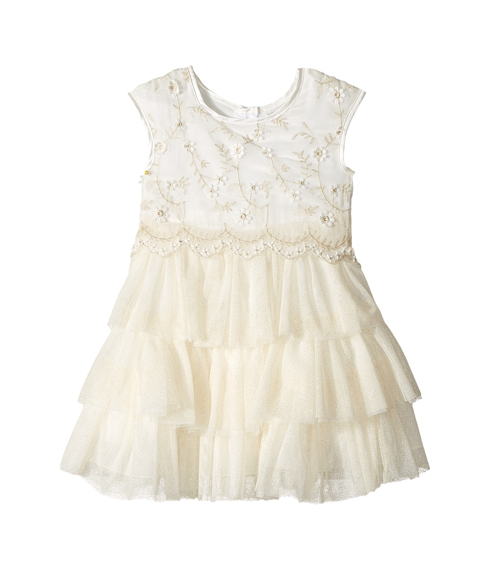 Nanette Lepore Kids - Lurex Embroidered Chiffon with Tulle