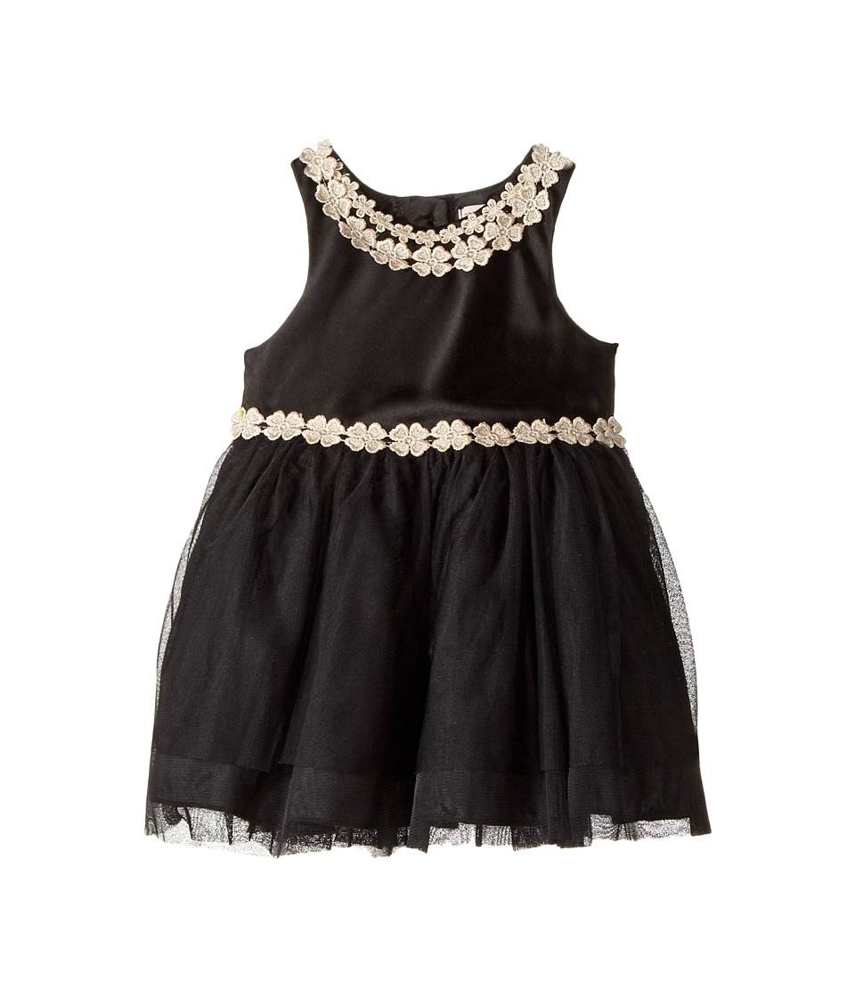 Nanette Lepore Kids - Matte Satin with Sequin Lurex Trim and Tulle Bottom