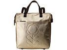 Orla Kiely Embossed Flower Stem Leather Backpack