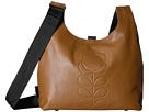 Orla Kiely Embossed Flower Stem Leather Midi Sling Bag