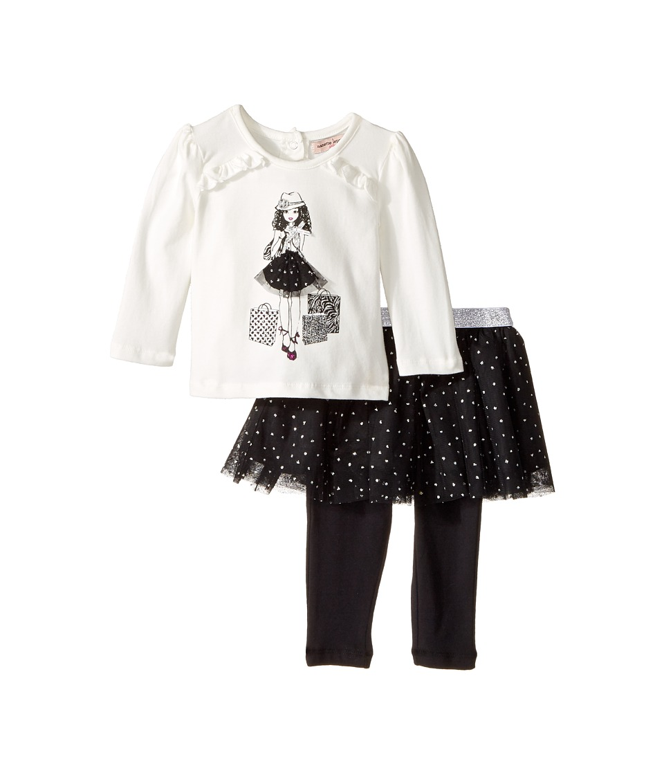Nanette Lepore Kids - Shopping Girl Tee with Dot Glitter Tutu and Leggings Set