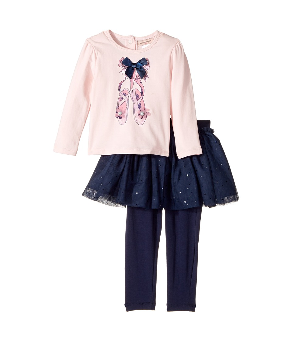 Nanette Lepore Kids - Ballet Slipper Top with Tutu and Leggings Set