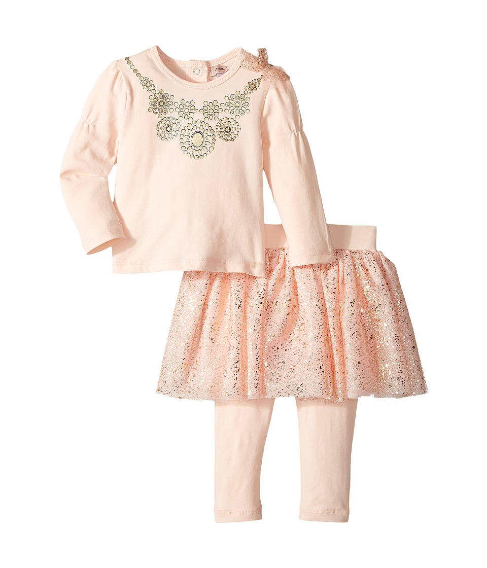 Nanette Lepore Kids - Necklace Top with Foil Tutu and Leggings Set