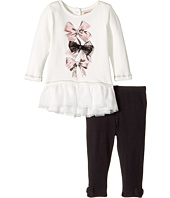 Nanette Lepore Kids - Bow Detail Top with Leggings Set (Infant)