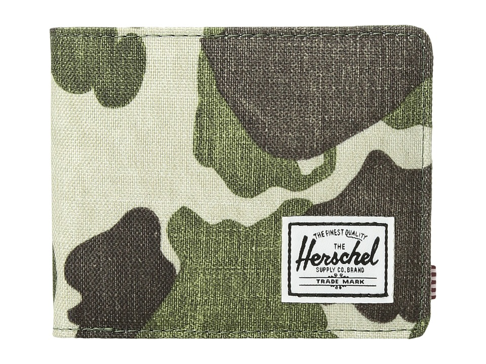Herschel Supply Co. - Roy RFID (Frog Camo) Wallet Handbags