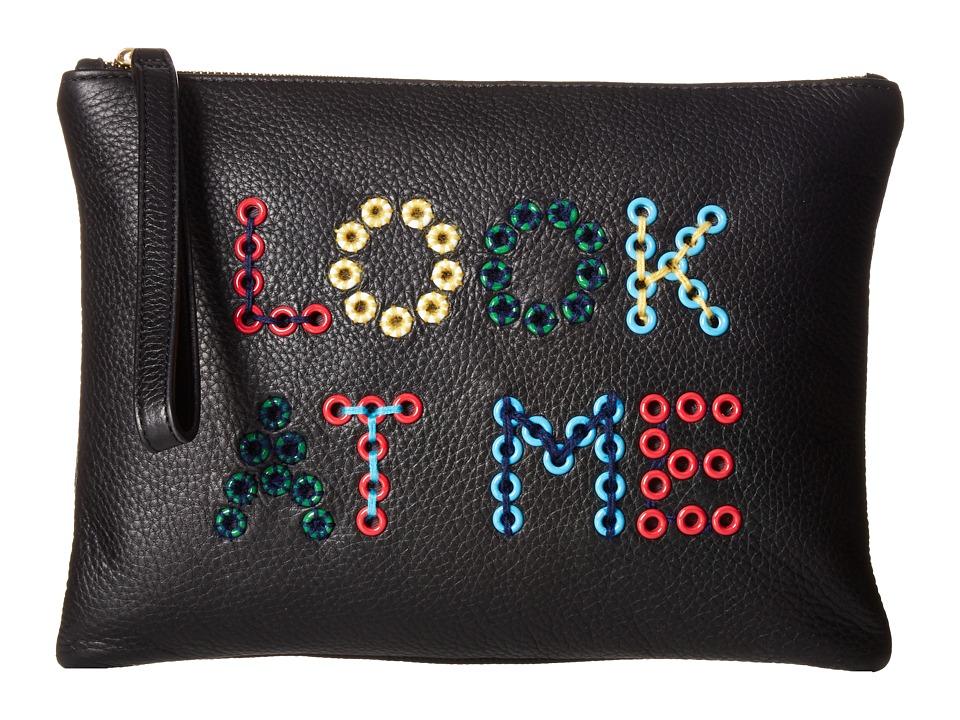 Sam Edelman Layton Clutch (Black/Look At Me) Clutch Handbags
