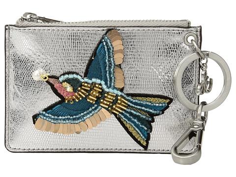 Sam Edelman Carter Bird Credit Card Case - Silver Lizard