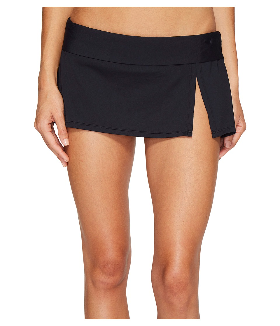Bleu Rod Beattie Kore Skirted Hipster Bikini Bottom (Black) Women