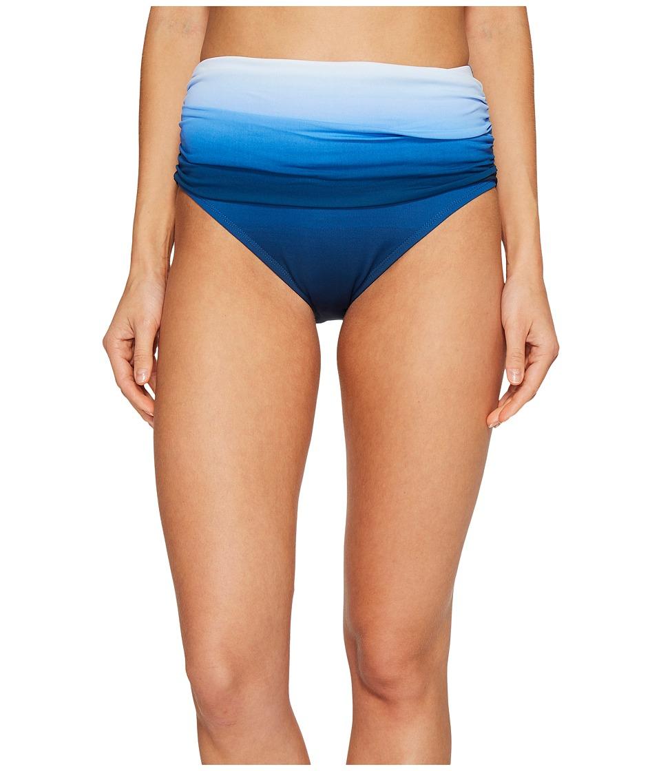 Bleu Rod Beattie Hola Ombre Shirred High Waist Bikini Bottom (Monaco Blue) Women