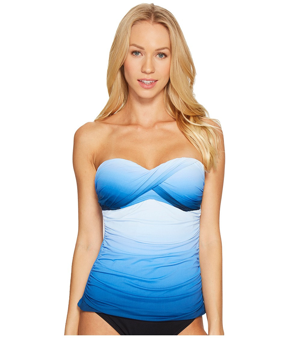 Bleu Rod Beattie Hole Ombre Twist Bandeau Tankini (Monaco Blue) Women