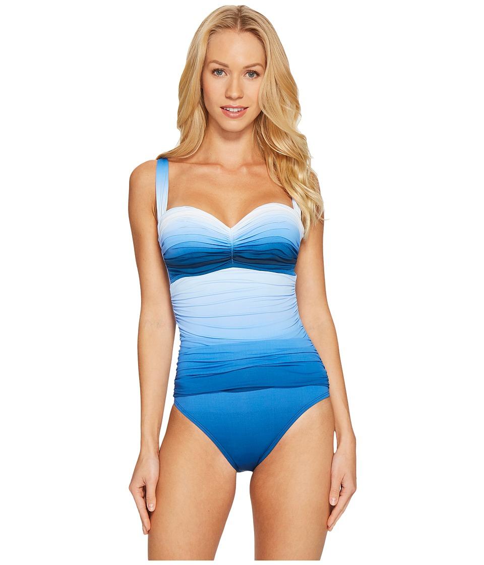 Bleu Rod Beattie Hola Ombre Shirred Bandeau Mio (Monaco Blue) Women